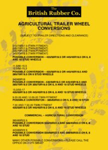 Agricultural Trailer Wheels, Tyres & Full Wheel Assemblies Conversions